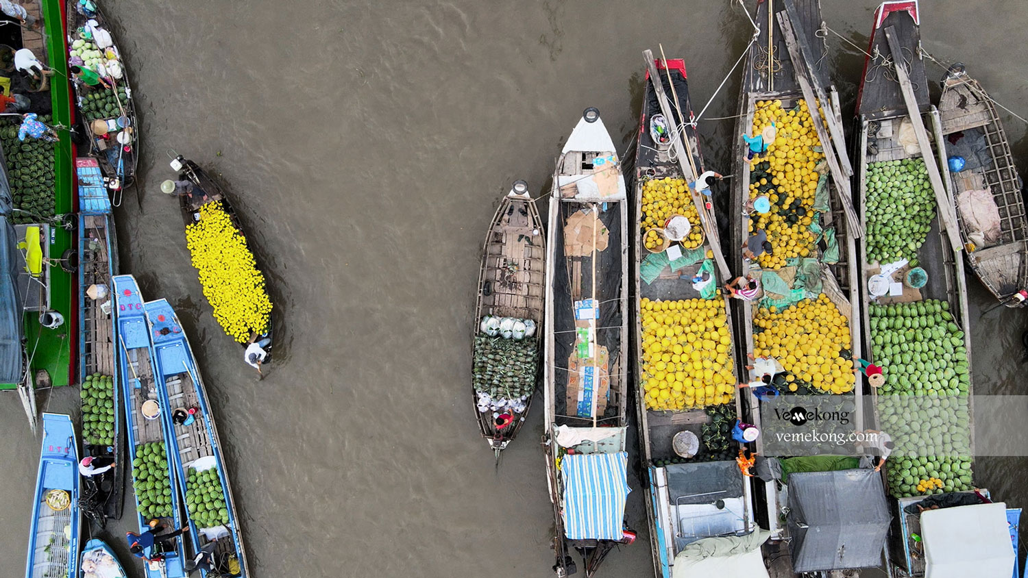 Cai Rang floating market in February and Tet Holiday